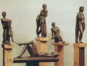 Ю. Чернов. Этюд. Композиция. Бронза. 1993