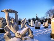 Скульптуры зимой
