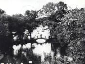 Знаменитый Китайский мостик в партерной части парка