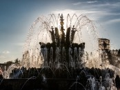 фонтан каменный цветок