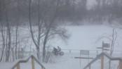 зима велосипед