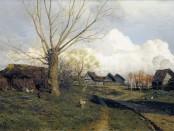 Саввинская слобода под Звенигородом. Картина Исаака Левитана, 1884.