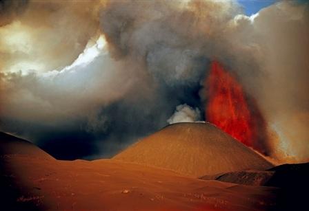 Извержение вулкана Толбачик. 1975 год