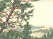 С. Бобров. Лесная река. 1930-е