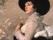 Ильин Г. А. Дама в черной шляпе. 1870