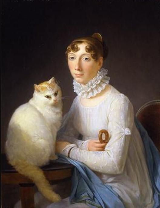 дама с кошкой