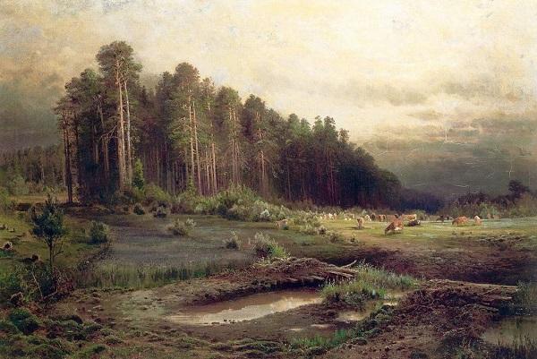Алексей Саврасов. Лосиный остров в Сокольниках, 1869