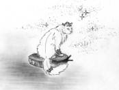 кот на пылесосе
